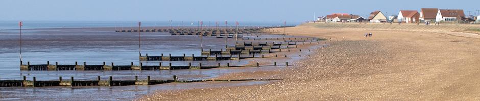 Beach, walking to Hunstanton. Ruth in North Norfolk