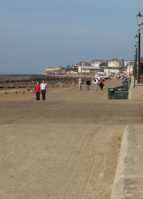 Approaching Hunstanton along the promenade from Heacham