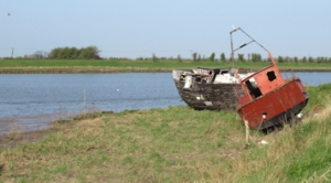 Wrecked boats, at mouth of the River Ouse