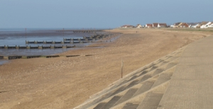 Promenade between Heacham and Hunstanton, with groynes