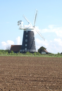 Windmill, Norfolk Coastal Walk, near Burnham Overy.
