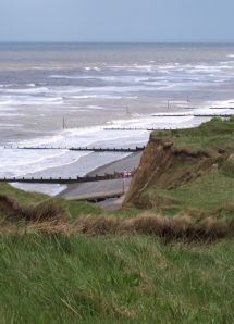 Groynes at Sheringham, Ruth's Coastal Walk