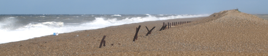 Shingle beach with waves, Ruth Coastal Walk