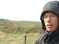 John with hood up, Ruth's Coastal Walk