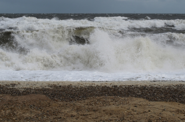 Waves on shingle, Ruth's Coastal Walk, Norfolk, Cley