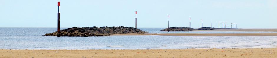 Sea Palling, Norfolk, sea defences and beach, Ruth's Coastal Walk