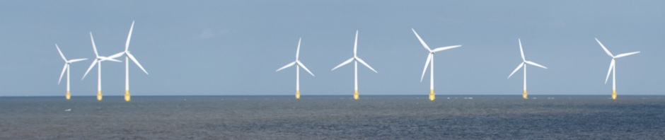 Wind farm off Caister-on-Sea, Ruth's coastal walk, UK