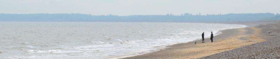 Beach at Walberswick - Shingle on Ruth's coastal walk, again