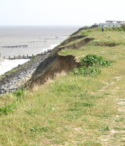 Disappearing path, towards Corton - Ruth's coastal walk, into Suffolk