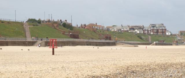 Gorleston beach - on Ruth's Coastal walk in Norfolk