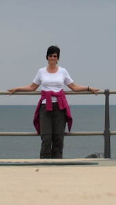 Ruth, standing at the Eastern Cardinal Point for the UK