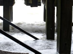Under the pier at Yarmouth - Ruth's coastal walk around the UK