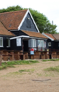 Cafe at Dunwich beach - Ruth's coastal walk