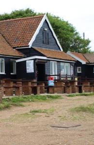 Cafe at Dunwich beach - Ruth's coastal walk