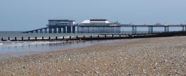 Ruth's coastal walk, approaching Cromer Pier