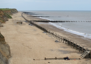 Happisburgh beach from top of the steps, Ruth's coastal walk