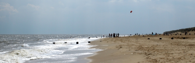People on the beach, Horsey Gap, Norfolk coast, Ruth's walk.