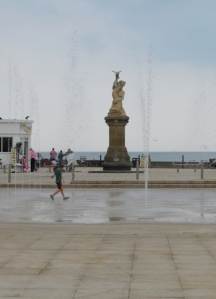 Fountains on Lowestoft Promenade, South - Ruth's coastal walk