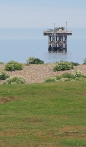 Platform in sea, near Sizewell - Ruths coastal walk