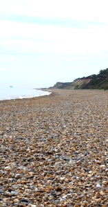 Shingle beach - makes walking difficult - Ruth's coastal walk