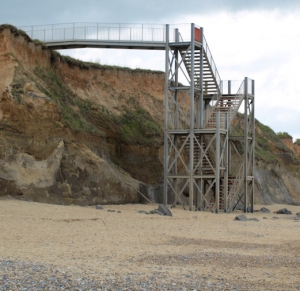 Steps up to Happisburgh, Ruth is not lost after all.