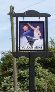 Vulcan Arms - pub sign - Sizewell, on Ruths Coastal Walk
