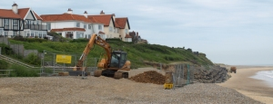Thorpeness, houses under threat as coastline erodes - Ruth's coastal walk