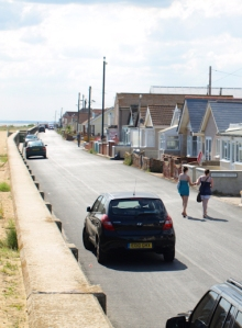 Jaywick, road along the beach - Ruth's coastal walk