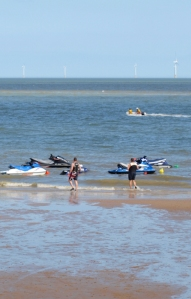 Jet skis on Jaywick beach - Ruth's coastal walk