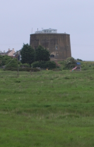 Martello Tower, Shingle Street, Suffolk Coastal Path - Ruths coastal walk, UK