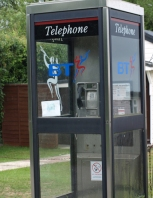 Telephone kiosk in Boyton - Ruth's coastal walk