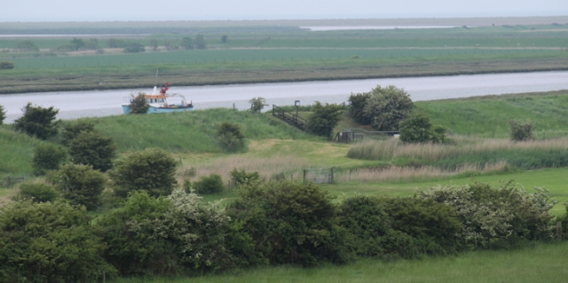 Boyton Marshes - view from hill - Ruths coastal walk
