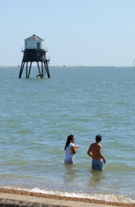 Dovercourt Lighthouse, in sea, Essex - Ruth's coastal walk