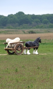 Art work - life size horse and cart - Ruth's coastal walk