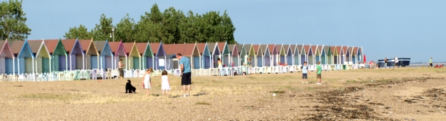 Beach huts, West Mersea, Ruths coastal walk.