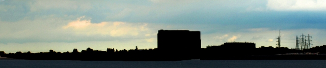 Bradwell Power Station, silhouette - Ruths coastal walk