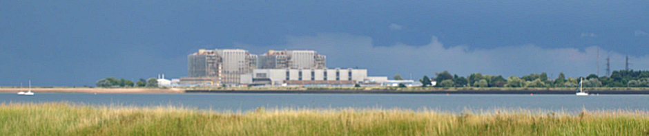Bradwell Power Station - seen in distance, Ruth's coastal walk