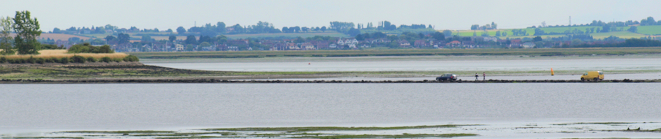 Osea Island causeway, Essex. Ruth's coastal walk