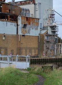Factory on River Roach, Rochford, Essex, Ruth's coastal walk