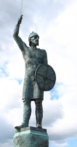 Statue of Byrhtnoth, Ruth's walk around the British coast