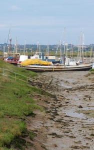 Boats at Maylandsea, Ruth's coastal walk in Essex