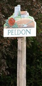 Peldon village sign, Ruth's coastal walk
