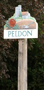 Peldon village sign, Ruth's coastal walk
