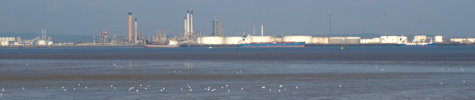 Canvey Island from St Mary's Marshes, Ruths coastal walk.