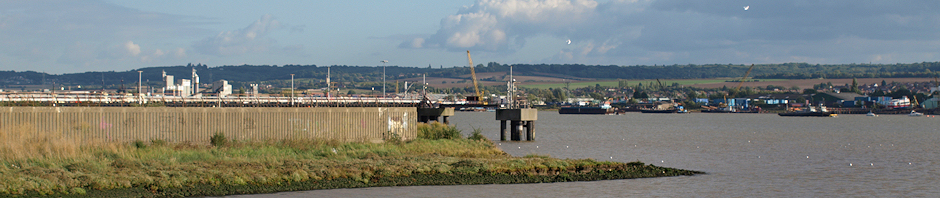 Thames Estuary, Jetties at Mucking Tip, Ruth's coastal walk, Essex