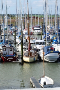 Marina at Bradwell Waterside, Ruth's coastal walk, Essex