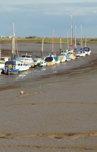 Boats in the mud, Potton Creek, Essex, Ruths coastal walk