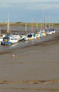 Boats in the mud, Potton Creek, Essex, Ruths coastal walk