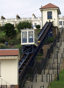 Southend Cliff Lift, Ruth's coastal walk.