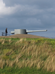Gun at Tilbury Fort, Ruth's coastal walk, Thames Estuary.